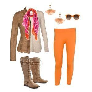 • {SJL Apparel} Orange Leggings